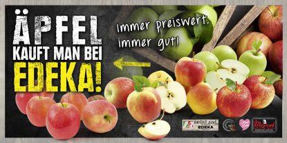 Äpfel kauft man bei EDEKA